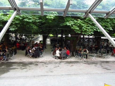 picturesque beer garden